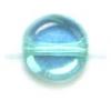 Glass Flat 6mm Blue Zircon Aurora Borealis - Strung